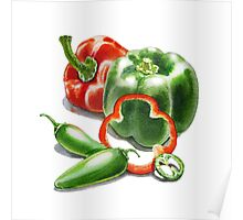 Bell Peppers With Jalapeno  Poster