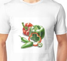 Bell Peppers With Jalapeno  Unisex T-Shirt
