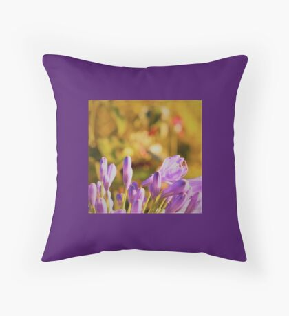 Violet Buds in Julie's garden #1 Throw Pillow