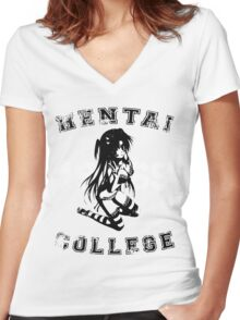 Hentai College 1969 (Warn) Women's Fitted V-Neck T-Shirt