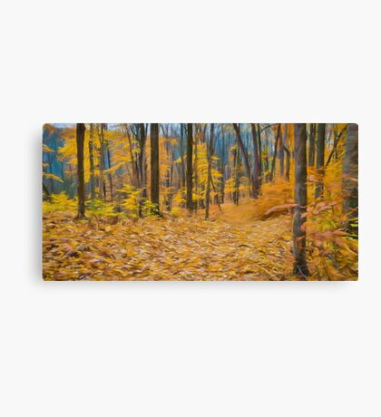 Golden Fall Colours Canvas Print