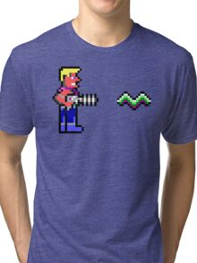 Duke Nukem Retro Pixel DOS game fan shirt Tri-blend T-Shirt