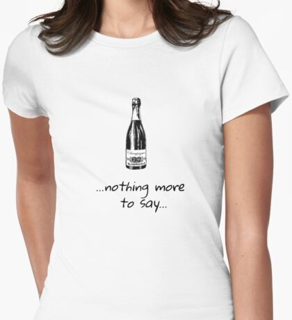 Champagne - party - bubbles Womens Fitted T-Shirt