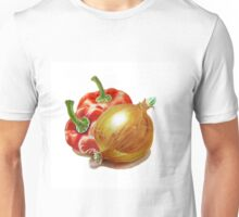 Red Peppers And Onion Unisex T-Shirt