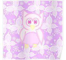 Kawaii pink owl  Poster