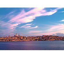 Sunset On Valletta Photographic Print