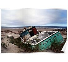 Rusty Come On (Fishing Boat Wreck, Yakan Point, Haida Gwaii, British Columbia, Canada) Poster