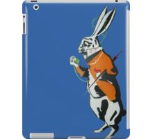 Wonderland Hare - Late for the tea party. iPad Case/Skin