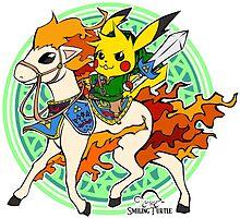 Linkachu Ponyta by smilingturtle