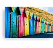 Colorful beach huts Canvas Print