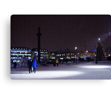 December in  Trondheim Canvas Print