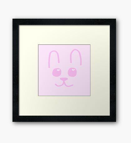 Bunny cuteness Framed Print