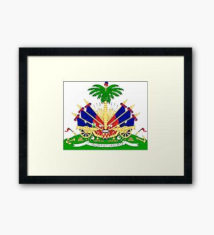 Haiti coat of Arms Framed Print