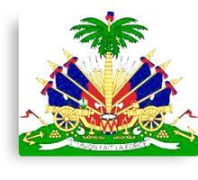 Haiti coat of Arms Canvas Print