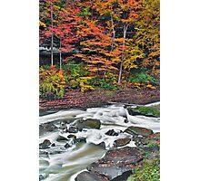 Autumn Rapids Photographic Print
