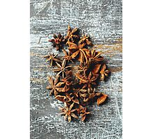Food Background with Heap of Star Anise Photographic Print