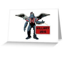 Hillary Clinton 2016 Spoof for President Flying  Monkey Funny Shirt, Sticker, Poster, Cases, Totes Greeting Card