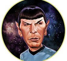 Mr. Spock Rounded by miquelnolla