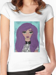 Pastel Girl Women's Fitted Scoop T-Shirt