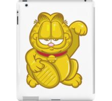 Gold Lucky Garfield Cat iPad Case/Skin