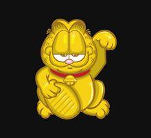 Gold Lucky Garfield Cat Unisex T-Shirt