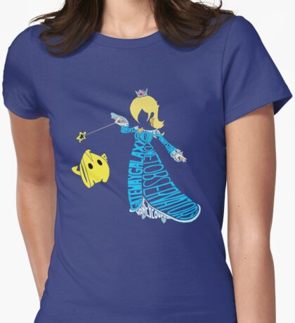 Rosalina Typography Womens Fitted T-Shirt