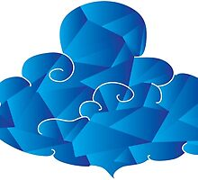 Blue Crazy Cloud  by TheNTRX