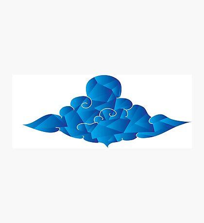 Blue Crazy Cloud  Photographic Print