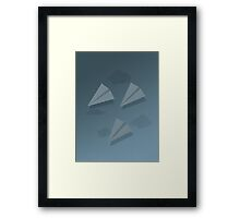 Paper Airplane 67 Framed Print