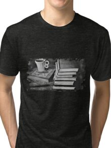 BOOKS AND COFFEE Tri-blend T-Shirt