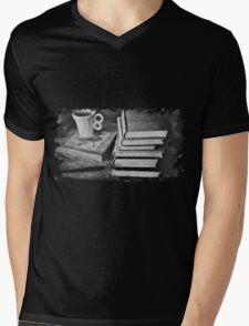 BOOKS AND COFFEE Mens V-Neck T-Shirt