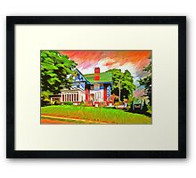 Glick Mansion  Framed Print