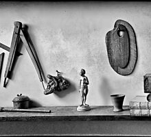 Bookshelf at Rembrandt House Museum by andreisky