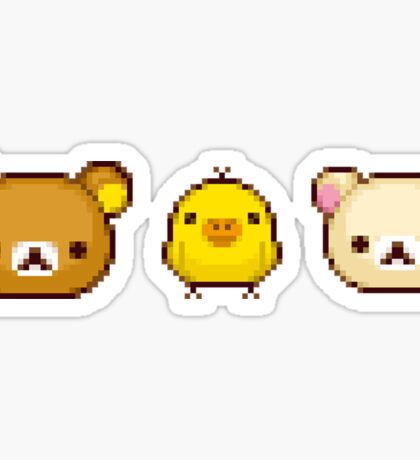Pixelated Rilakkuma Sticker