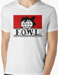 F.O.W.L.  Mens V-Neck T-Shirt