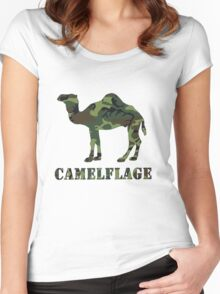 CAMELflaged Women's Fitted Scoop T-Shirt