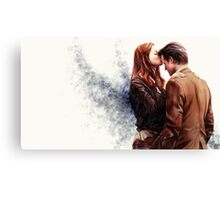Doctor Who-Amy and The Doctor Canvas Print