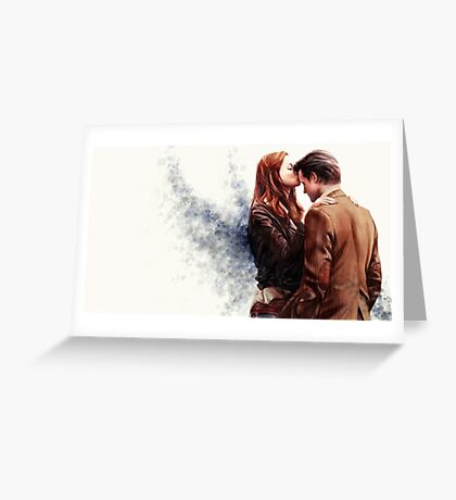 Doctor Who-Amy and The Doctor Greeting Card