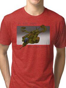 On an exspress elevator to hell! Tri-blend T-Shirt