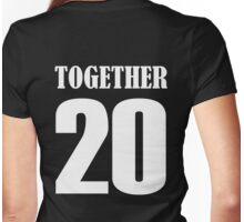 Together since 2016 valentine couple shirt Womens Fitted T-Shirt