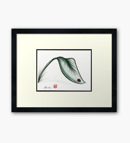 """""""Leaf Me Alone"""" - Ladybug drawing Framed Print"""