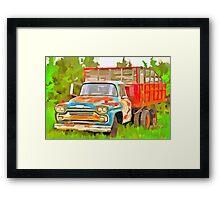 Old Chevrolet Viking Work Truck  Framed Print