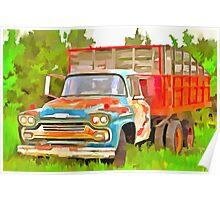 Old Chevrolet Viking Work Truck  Poster