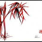 """Nature's Kiss"" Original Chinese Brush Painting by Rebecca Rees"