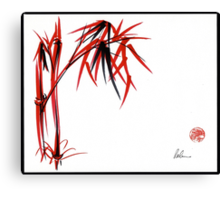 """Nature's Kiss"" Original Chinese Brush Painting Canvas Print"