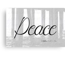 Peace (Matthew 6:25-34) Canvas Print