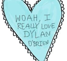 dylan o'brien heart by annnaalove