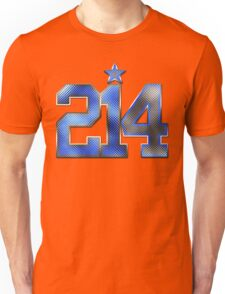 214 Bling (Blue 21/White 4) Unisex T-Shirt