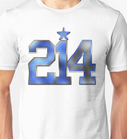 214 Bling (Blue 21/White 4) Unisex T-Shirt