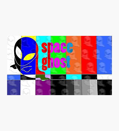 Colorful Spaceghost Photographic Print